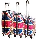 lorenz accessori ultra leggero 3pezzi set di valigie con 4ruote. Questo Funky valigia set sarà facile da individuare sulla cintura e vi farà stare fuori dalla folla. Tutte le valigie sono dotate di maniglia telescopica regolabile estraibile...