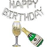 Ouinne Happy Birthday Globo de Aluminio Cumpleaños Decoraciones