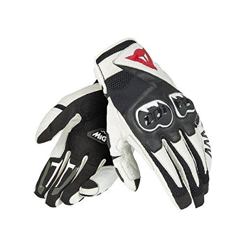 Dainese-MIG C2 UNISEX Handschuhe, Schwarz/Weiss/Schwarz, Größe XXXL