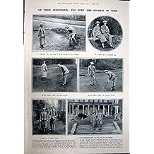 GOLF 1923 DE DENTELLE DE LUNE DE MIEL DE DUC DUCHESSE YORK POLESDEN