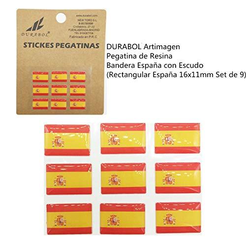 DURABOL Artimagen Pegatina Resina Bandera España