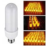 LED Efecto llama luz bombilla, ycdeals E27lámparas LED en forma de vela bombillas, imitación de decorativa luz ambiente iluminación vintage llamas luz bombilla para fiestas/bar/Festival Decoración