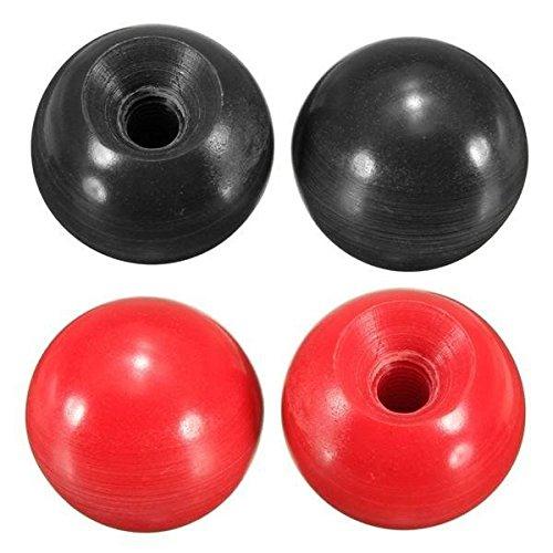 mark8shop 2Griff Ball Knöpfe 6mm Bohrung 25Dia Gewinde rund Kunststoff für Maschine Werkzeug -