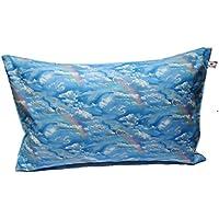 Kissenbezug 40 X 60 cm Wolken Hellblau Wölkchen Blau Zierkissenbezug Regenbogen Kissen zum kuscheln 100% Baumwolle BW Handmade