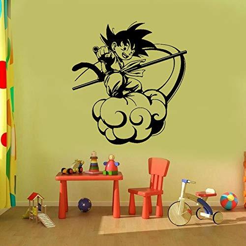 zhuziji Cartoon Dragon Ball Sun Wukong Purzelbaum Cloud Decals Dekoration Kinderzimmer Cartoon Abnehmbare Wand Stick weiß 87x96cm