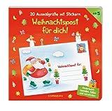 20 Ausmalgrüße mit Stickern: Weihnachtspost für dich!: (Verkaufseinheit)
