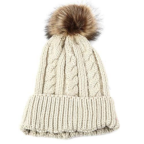 Kobay berretto in lana lavorato a maglia all'uncinetto con berretto da sci da donna
