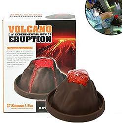1 Juego Educativo Kit Erupción Del Volcán Experimentos De Ciencia Explosión Del Kit DIY Juguetes Del Desarrollo Del Tallo Gran Kit De La Ciencia De Regalos Para Niños Y Niñas