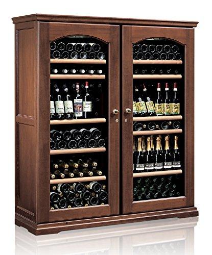 Ip Industrie - Cantina climatizzata legno massello due porte in doppio vetro 2 celle indipendenti capienza 224 bottiglie
