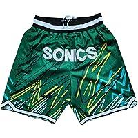 HGTRF Pantalones Cortos de Baloncesto para niños Thunder Paul No. 3, versión para fanáticos, Pantalones Cortos de Entrenamiento, Sueltos y Transpirables