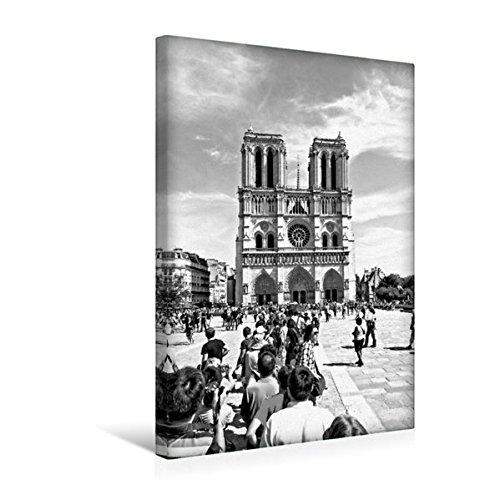 Calvendo Premium Textil-Leinwand 30 cm x 45 cm hoch, Notre Dame   Wandbild, Bild auf Keilrahmen, Fertigbild auf echter Leinwand, Leinwanddruck Orte Orte