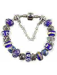 White Birch Murano Fleurs Charm Bracelet Perles Pour Pandora pour les Femme Filles