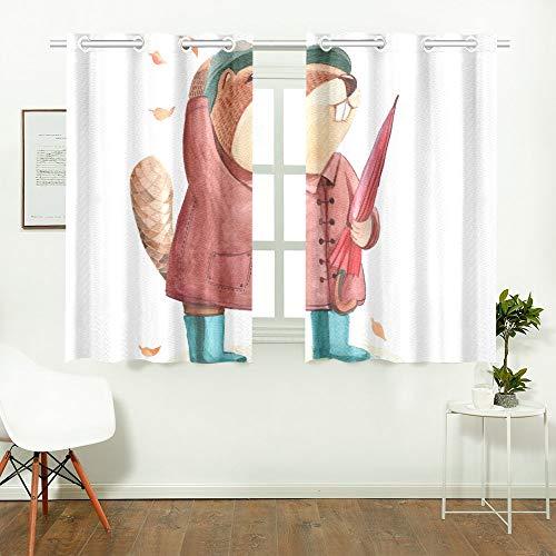 Reopx Biber Mantel Hut Regenschirm Küche Vorhänge Fenster Vorhang Stufen für Café, Bad, Wäscheservice, Wohnzimmer Schlafzimmer 26 X 39 Zoll 2 Stück -