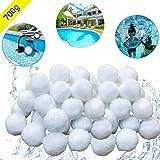 KATELUO Filter Balls 700g Filtermaterial für Poolpumpe,rsetzen 25 kg Filtersand für Pool Sandfilter (Weiß)