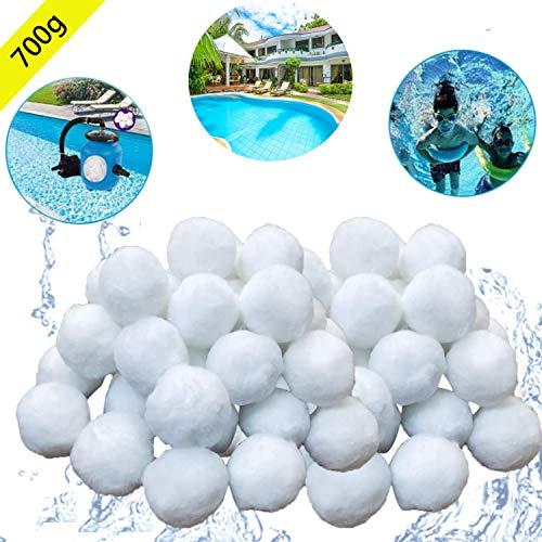 700g Filtermaterial für Poolpumpe,rsetzen 25 kg Filtersand für Pool Sandfilter (Weiß) ()