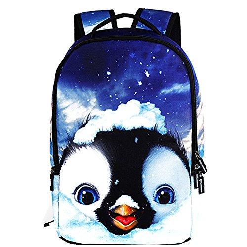 TOMATO-smile, Borsa a zainetto donna multicolore fiore pinguin