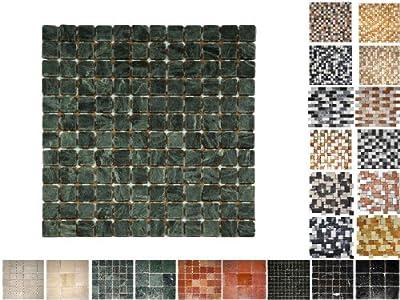 1Netz Marmor Mosaik Verde 23 von Mosaikdiscount24 bei TapetenShop