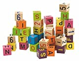 Woodyland Coloured Blocks with Alphabet and Numbers