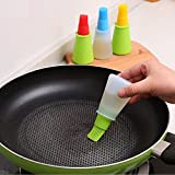 Maxed Silicone Cooking Oil Bottle with Basting Brush (Random Colour)