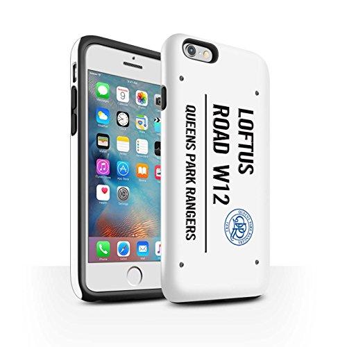 Offiziell Queens Park Rangers FC Hülle / Glanz Harten Stoßfest Case für Apple iPhone 6+/Plus 5.5 / Pack 8pcs Muster / QPR Loftus Road Zeichen Kollektion Weiß/Schwarz