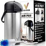 Thermal Coffee Airpot - Beverage Dispenser (85oz.) by Vondior - Stainless Steel Urn