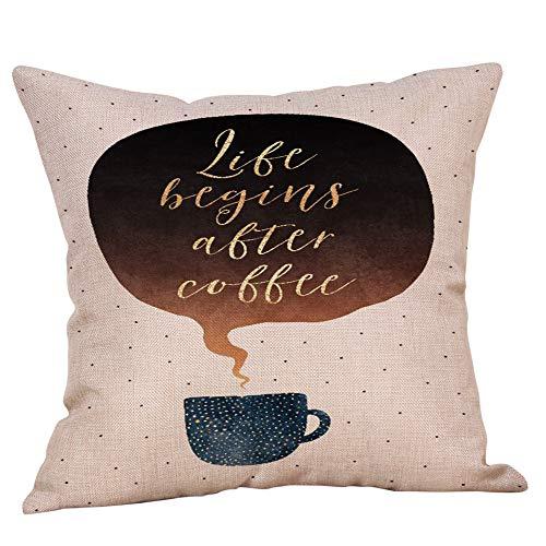 WUDUBE Mode lässig modernen Stil literarischen Kaffeetasse Druck Brief Umarmung Kissenbezug, dekorative Wohnzimmer wesentliche, 43 * 43 cm