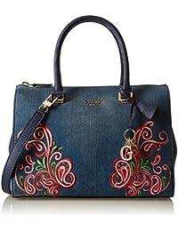 Guess - Arianna, Bolsos de mano Mujer, Blu (Denim), 16x23x31 cm (W x H L)