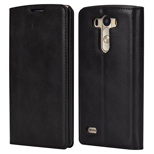 Galleria fotografica Custodia LG G3, Cover LG G3, Mulbess [Portafoglio Protettiva] Custodia In Pelle Con Supporto Per LG G3 Custodia Pelle, Nero