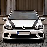 Foliensatz für Motorhaube Zubehör Tuning 1004 (schwarz)