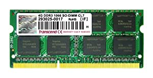 Transcend 4GB DDR3-1066MHz Notebook Memory