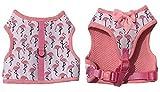 Pink Flamingo Cute weich gepolsterte Mesh Futter Mädchen Hund Puppy Geschirr keine Pull Pet Cat Hundegeschirr Weste, Hals 22,9cm