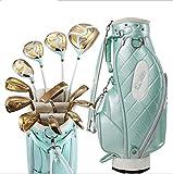 AP Incluye–Juego Completo de Palos de Golf para diestros Titanio Conductor. híbrido, hierros, Putter, Bolsa