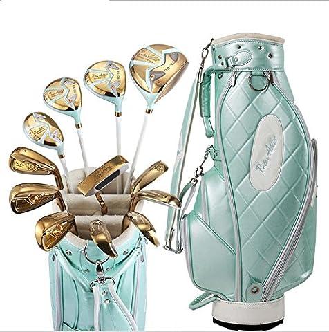 Damen Rechtshänder Golfschläger Komplett Set inkl. titan Driver. Hybrid, Eisen, Putter, Bag (Titan Golf Clubs)