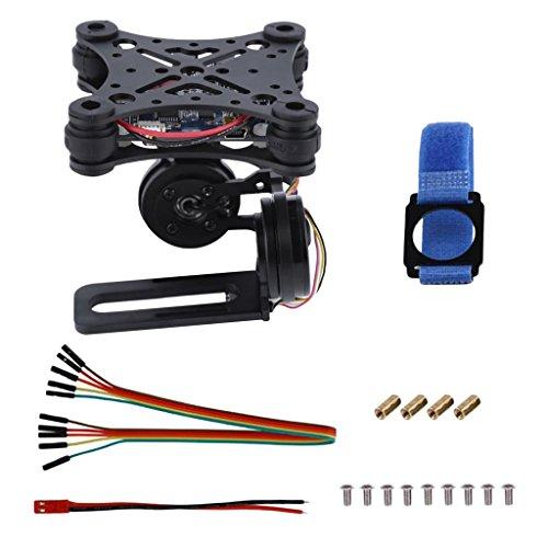 MagiDeal Brushless Gimbals PTZ Panel de Control 2 Ejes para dji Phantom GoPro 3 4 Drone