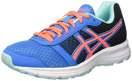 Asics Women's Patriot 8 Running Shoes, Multicolour (Diva Blue/Flash Coral/Aqua Splash), 6 UK