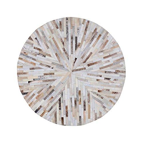 Teppich Teppich Kuhfell runden Eingangshalle Bad saugfähigen Kunst Wohnzimmer Schlafzimmer Matten Wasseraufnahme ( Size : Diameter 1.4m )