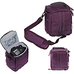 Navitech lense pourpre et DSLR caméra sac cas pour CANONEOS 80D / 700D / 760D NU / 750D / 760D