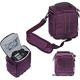 Navitech lense pourpre et DSLR caméra sac cas pour Nikon D5200