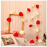 XLGX Rose Fairy String Lights, Battery Powered Operated 3M 20 LED String Lights for...