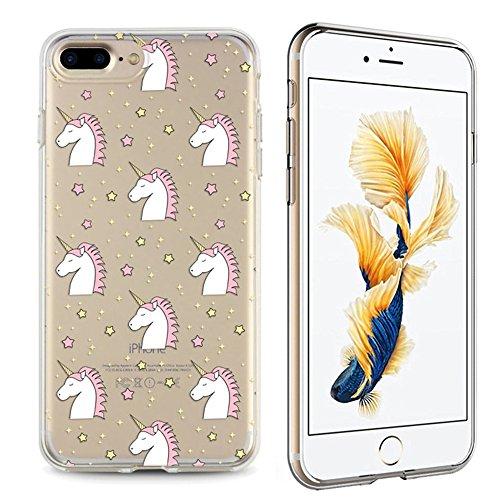 Panelize iPhone 7 Plus Einhorn Hülle Schutzhülle Handyhülle Hard Case Cover Kratzfest Rutschfest Durchsichtig Klar (Einhorn 4) Einhorn