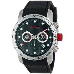 Red Line Velocity Herren 43mm Chronograph Kautschuk Armband Uhr 50044-01-BK