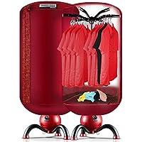 Secadora de ropa con Calefacción Eléctrica con Temporizador de Secado Rápido Plegable, 6 Kg, Rojo
