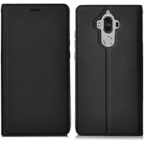 ELTD Huawei Mate 9 flip Cover, Slim flip funda carcasa case para Huawei Mate 9, Negro