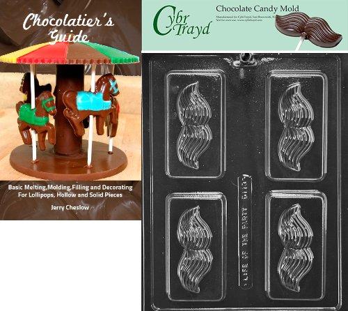 urrbart Seife Bar Form Schokolade Candy Form mit Exklusive Cybrtrayd urheberrechtlich geschützt Schokolade Formen Anweisungen + Chocolatierbuch farblos ()