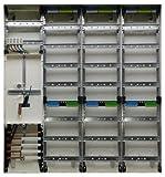 TM: 12062: Hager Zählerschrank 1x 3.HZ Zähler + 3x Verteiler ZB34S