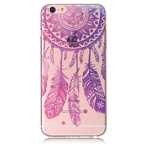 Fodlon® Des Roses Transparent Soft Case pour Apple iphone 6 plus/6s plus Vent bleu Powder Ling