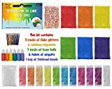 Original Stationery Slime Kit Supplies for Girls and Boys Ages 7+, Science Package Stuff Containers, Clay, Floam Beads, Glue, Glitter. Make Color, Clear, Rainbow, Fluffy, Instructions Included