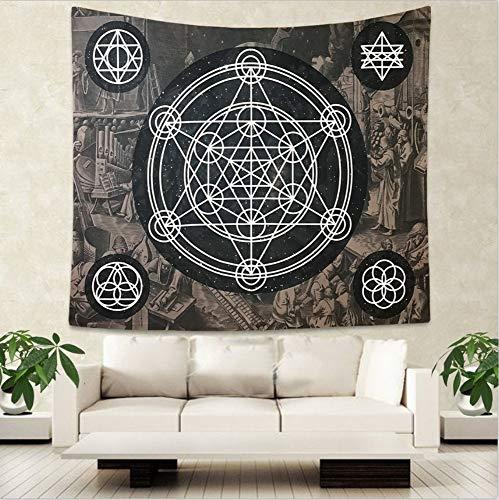 HYDDAXJW Tarot Hängende Tapisserie Hippie Wandbehang Decke Wand Teppich Yoga Matte Wohnkultur 200X220Cm -