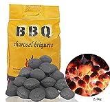 MT& 2,5 kg de carbón Vegetal de Grado Restaurante barbacoas de carbón, trozos Grandes para barbacoas de combustión más Larga