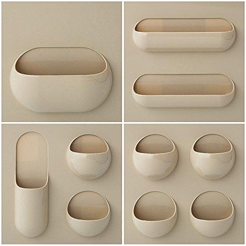 aste Aufhängung Organizer Rack Bad Küche Home Ablage Khaki set (Küche Tong Set)